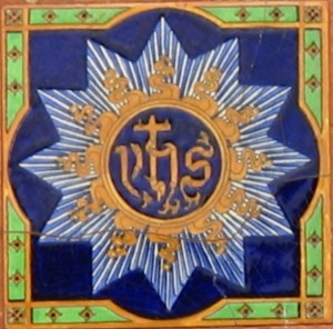 An example of a Holy Name plaque photographed in  Limerick