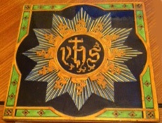 The Stoneybatter Holy Name plaque .'Made in England 1928' is inscribed on the back of it.